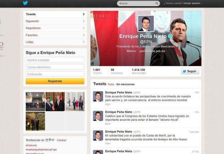 Enrique Peña Nieto ocupa el noveno lugar. (Twitter)