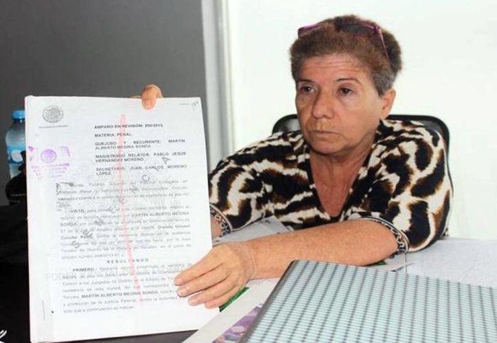 Ligia Canto Lugo no ha cesado en su demanda de justicia. Ahora empieza a ver los frutos con la detención de Medina Sonda en Cancún y la próxima recuperación de sus tres nietos. (SIPSE)