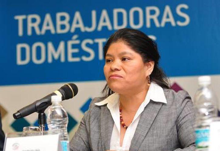 Imagen de archivo de Marcelina Bautista Bautista, indígena oaxaqueña fundadora del Centro de Apoyo y Capacitación para Empleadas del Hogar. (www.conapred.org.mx)