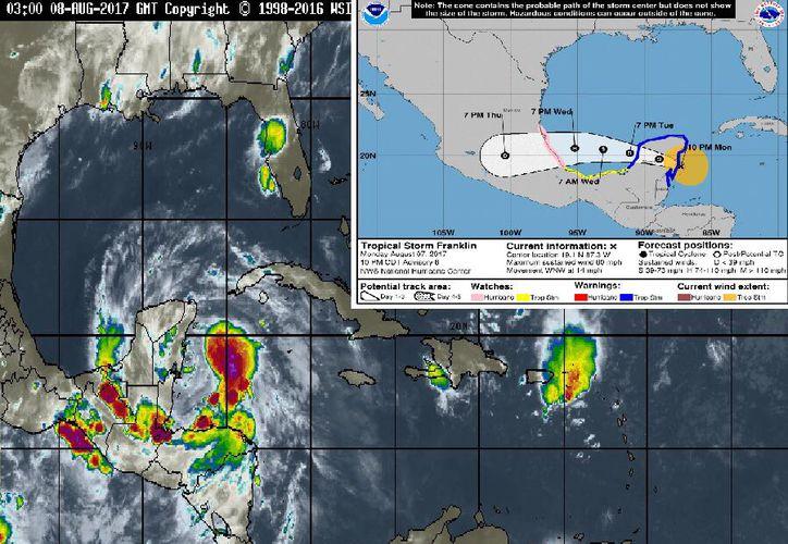 Se pide actuar con calma para evitar emergencias en todos los municipios afectados por la tormenta tropical,  pues no representa gran riesgo para la comunidad. (Foto: Redacción/SIPSE).