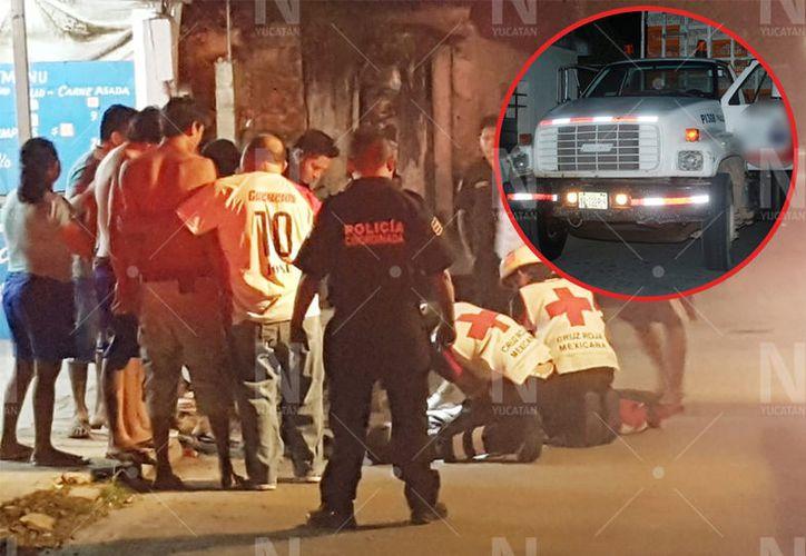 El adolescente falleció al ser arrollado por un pesado camión. (Novedades Yucatán)