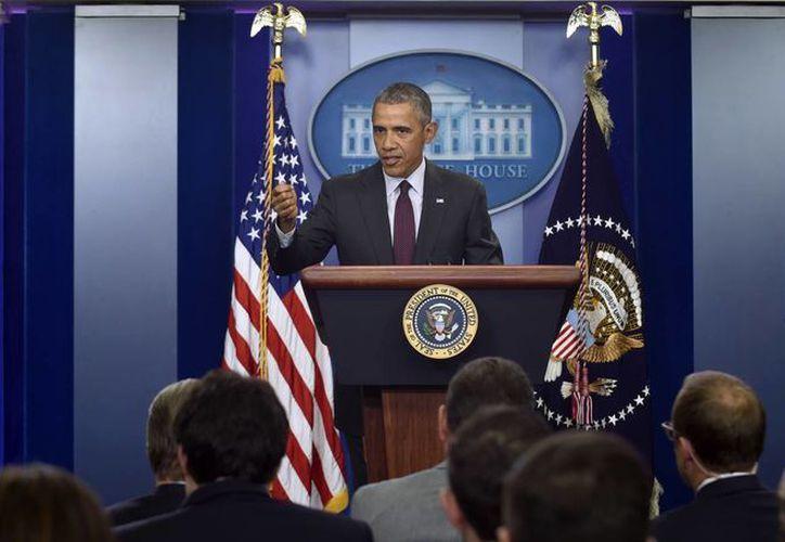 Obama llamó una vez más al Congreso de Estados Unidos para que apruebe leyes de control de armas. (AP)