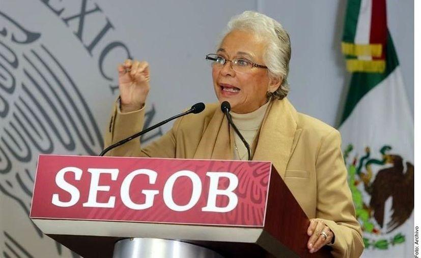 Olga Sánchez Cordero, titular de la Segob. (Agencia Reforma)