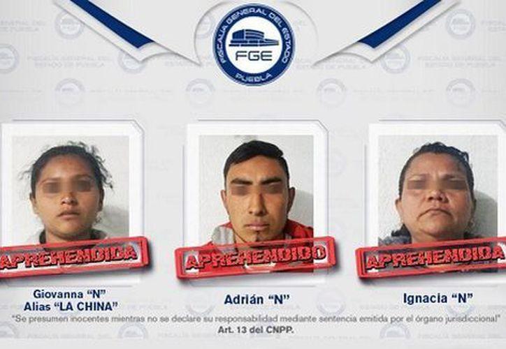 Detienen a tres por calcinar a Mayra Consuelo en Puebla. (Especial)