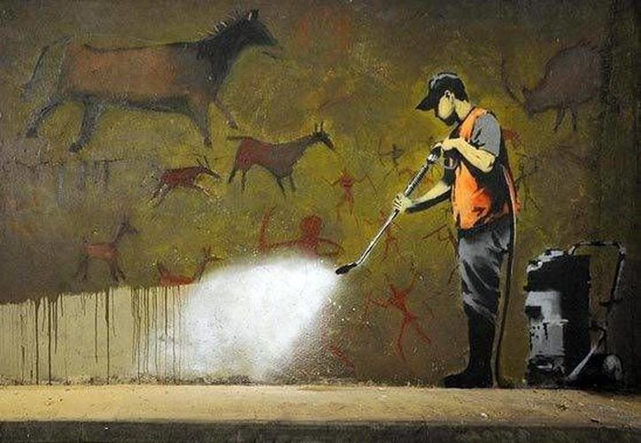 Las obras de Bansky son de las más cotizadas del mundo.(foro.culturismodigital.com)