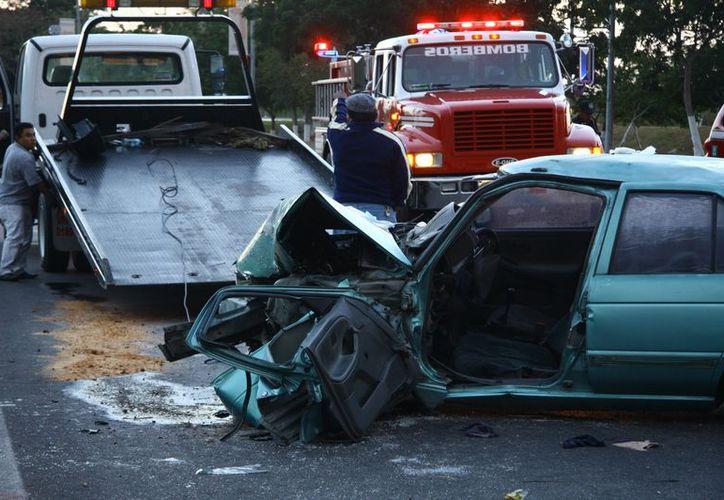Hoy como ayer los accidentes siguen siendo noticia en Yucatán. (Jorge Pallota/SIPSE)