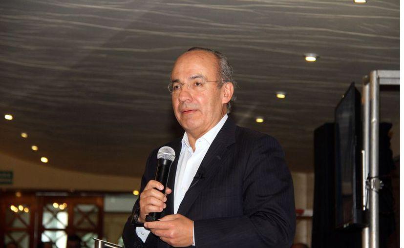 El ex presidente Felipe Calderón demostró que está al corriente de sus declaraciones. (Agencia Reforma)
