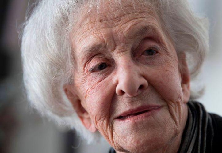 La escritora Ida Vitale, nacida en Montevideo, Uruguay, ganó este jueves el Premio Cervantes 2018. (AFP)