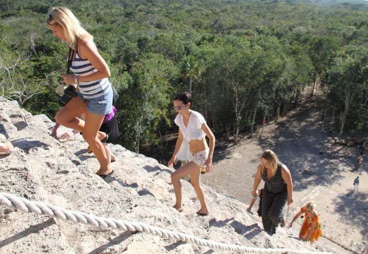 Los turistas cada vez cuentan con más opciones para conocer el Mundo Maya. (SIPSE)