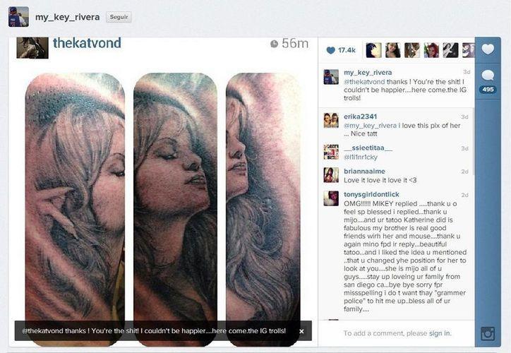 El hijo de Jenni Rivera subió las fotos del tatuaje a su cuenta de instagram. (@my_key_rivera)