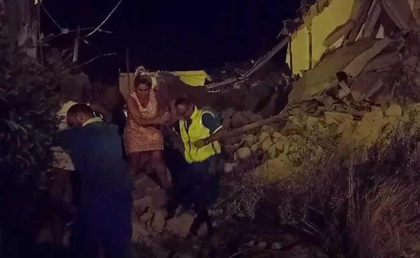 Imagen de la devastación del terremoto en Italia (Agencia)