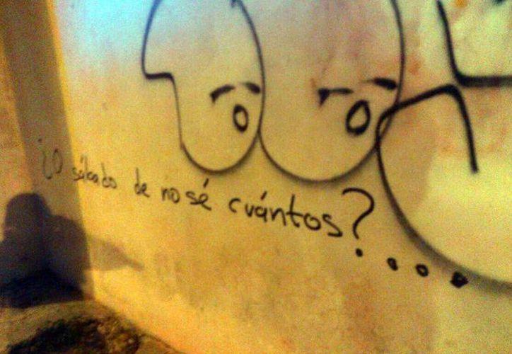 El detenido está acusado por el delito de daños en propiedad ajena. Se encontró su obra de 'arte' en diversas paredes de edificios del Centro de Mérida. (Milenio Novedades)