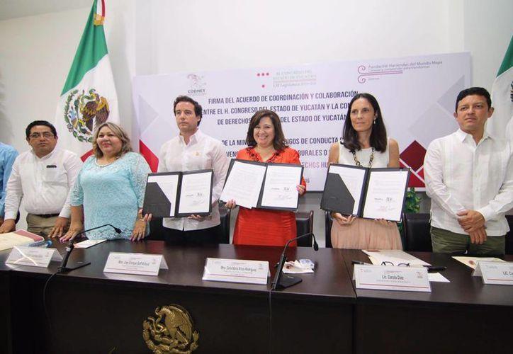 El convenio con la Codhey incrementará la colaboración para fortalecer el marco jurídico de la entidad. (Milenio Novedades)