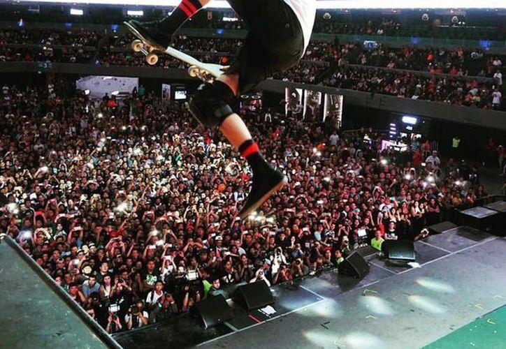 El skate Tony Hawk estuvo este fin de semana en México para el Nixon Vertical Tour, su quinta visita a territorio tricolor. (Facebook: Tony Hawk)
