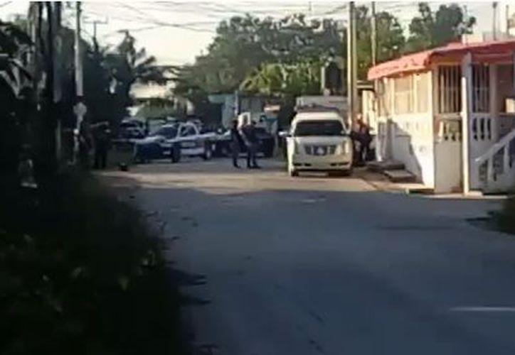 Elementos de la policía municipal se trasladaron al lugar. (Eric Galindo/ SIPSE)