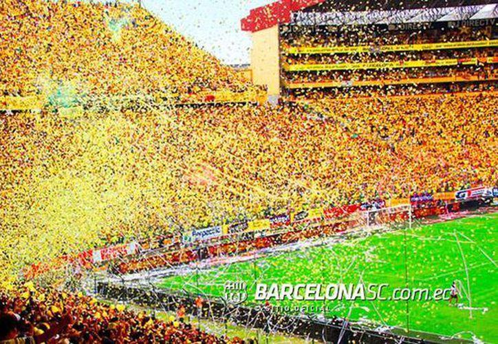 De acuerdo con la Fiscalía de Ecuador, la investigación sobre actos ilegales cometidos por directivos del Barcelona Sporting Club. La imagen, del estadio sede del equipo, está utilizada sólo como contexto. (barcelonasc.com.ec)