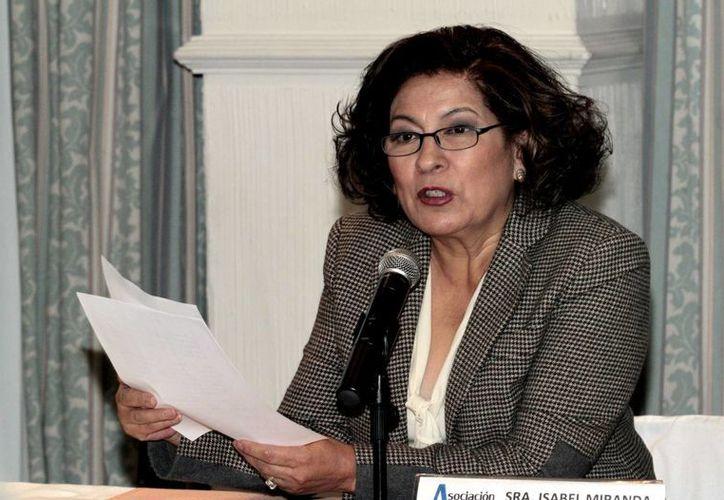 """La presidenta de la asociación Alto al Secuestro, Isabel Miranda de Wallace, reconoció que, en secuestros, """"seguimos teniendo cifras muy elevadas"""". (Imagen de archivo/Notimex)"""
