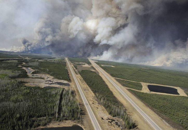 Canadá espera cambio meteorológico para contener incendio en noreste del país. (EFE)