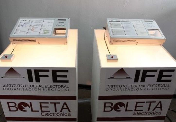 La nueva boleta electrónica ya fue objeto de una prueba píloto en los comicios pasados. (Notimex/Foto de archivo)