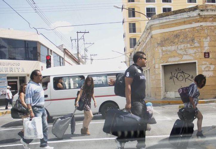 Cada vez es mayor el número de turistas que se ven recorriendo las calles de Mérida. (Juan Albornoz/SIPSE)
