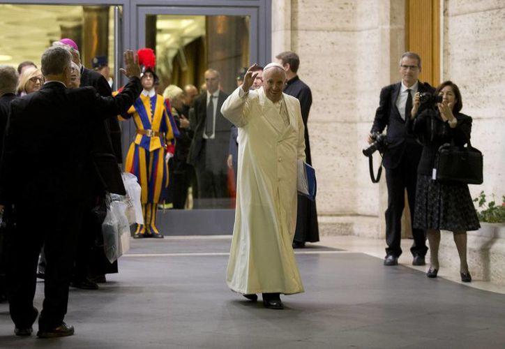 El Papa celebrará este domingo la misa de clausura del Sínodo de los Obispos en la basílica de San Pedro. (AP)