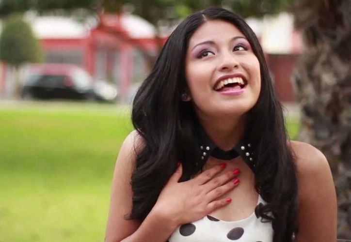 Wendy Sulca acaba de cumplir 10 años como cantante. (Captura de pantalla de YouTube)