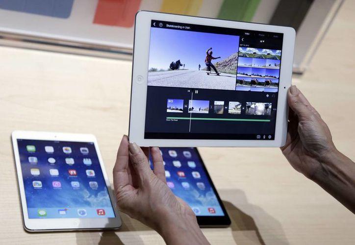 El iPad Air tiene una retina display, tiene 7.5 mm de ancho, y es 43% más delgada. (Agencias)