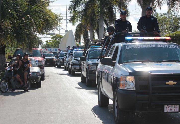 Este viernes inició el Operativo de Seguridad de Invierno en Cozumel. (Gustavo Villegas/SIPSE)