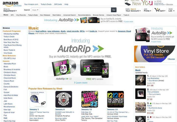 Más de 50 mil álbumes están disponibles en AutoRip y Steve Boom. (amazon.com)