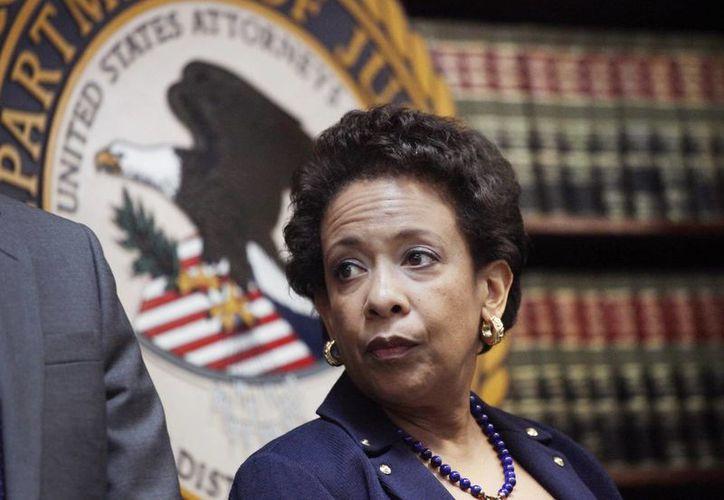 La fiscal general de los Estados Unidos, Loretta E. Lynch, durante un anuncio para dar a conocer detalles sobre la investigación por corrupción en la FIFA, que ha derivado en varios arrestos de altos mandos. (Foto: AP)