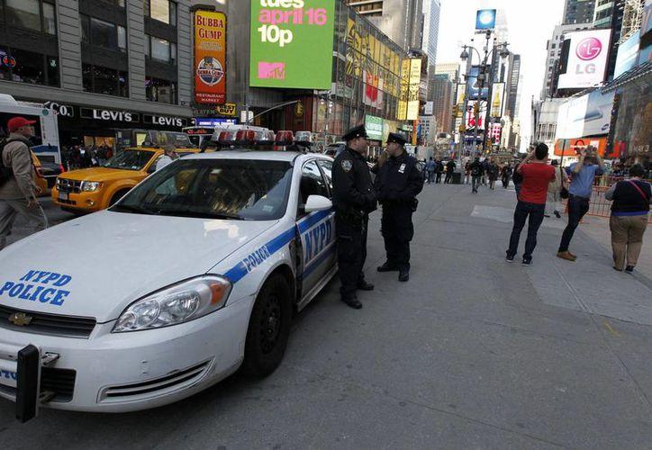 Times Square es cada año escenario de una de las bienvenidas al Año Nuevo más famosas del planeta. (EFE)