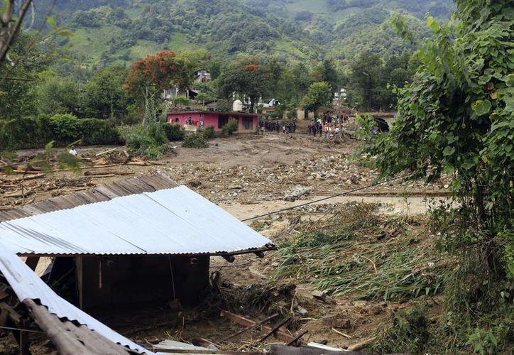 El gobierno de Puebla promete pronta recuperación de las comunidades dañadas por los efectos de Earl. (Notimex)