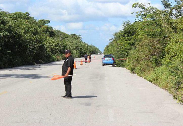 Los delincuentes se dieron a la fuga al percatarse que cerca de la zona había un puesto de control de la Policía. (SIPSE)