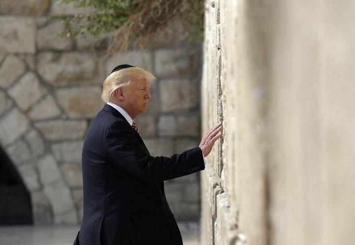 La estación con el nombre de Trump se construirá cerca del Muro de los Lamentos en Israel. (Foto: Contexto)