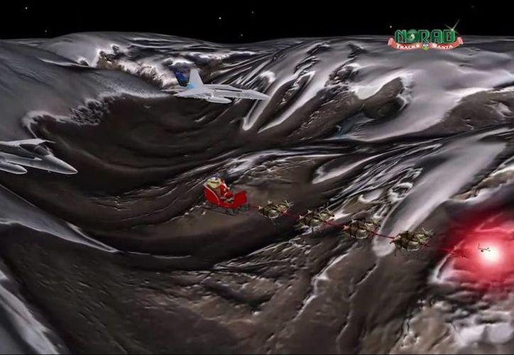 Los videos del NORAD son una forma de promover al Ejército entre los niños, denuncian asociaciones civiles de Estados Unidos. (Captura de pantalla)