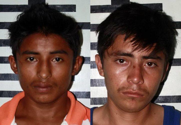 José Eliseo Tzec Cauich y Rey David Cimé Poot, enfrentan los cargos de tentativa de robo calificado cometido en pandilla. (Milenio Novedades)