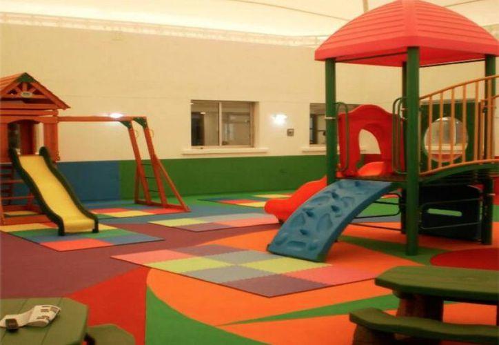 Las áreas infantiles serán similares a la que se instaló en el Hospital General de Chetumal. (Cortesía/SIPSE)