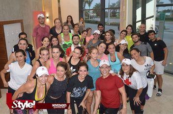 Clase de spinning a beneficio de la Cruz Roja Mexicana Delegación Cancún