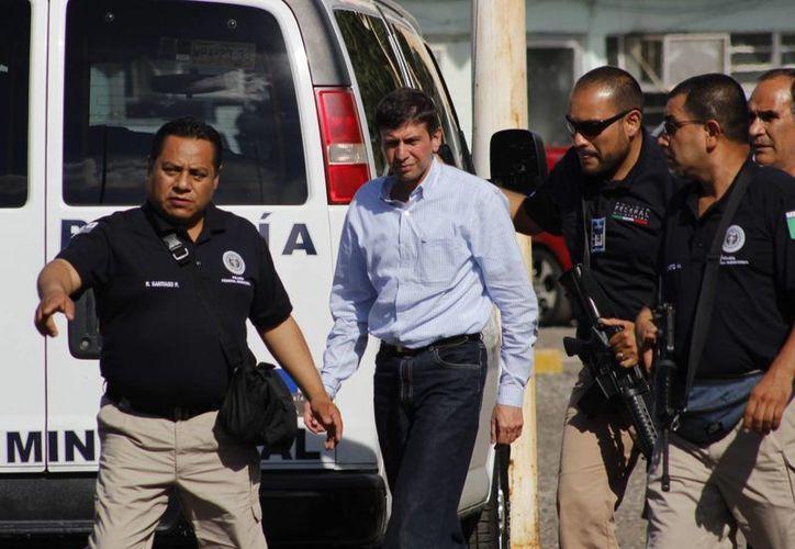 Finalmente José Manuel Saiz no pudo sustraerse de la justicia. (Notimex)