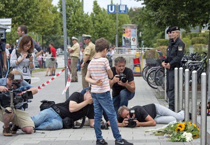 Las autoridades alemanas condenaron 'el acto de violencia atroz' que sufrió la ciudad de Múnich el viernes. (AP)