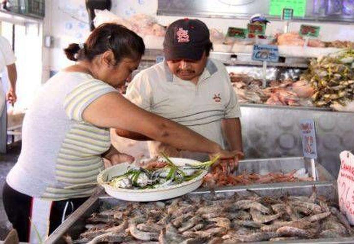 Los precios del pescado frito están alrededor de los 100 pesos, pero tienden a subir, explica restaurantera local. (SIPSE)