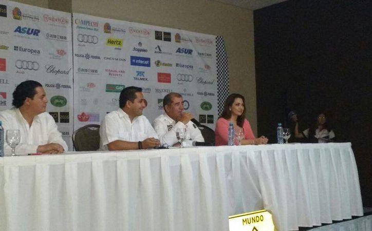 Imagen de la rueda de prensa en donde anunciaron los detalles para el  Rally Maya 2016. (Candelario Robles/Milenio Novedades)