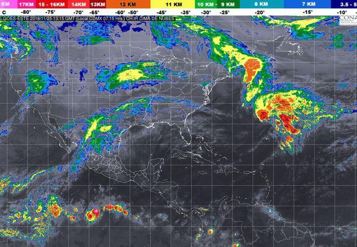 La temperatura mínima oscilará en los 24 grados centígrados con 10% de probabilidad de lluvias en Playa del Carmen. (Conagua)