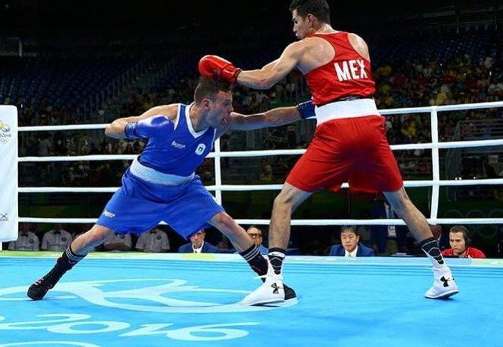 El peleador mexicano tuvo una participación fugaz, luego de caer en su primera batalla en los Juegos Olímpicos.(Foto tomada de Conade)