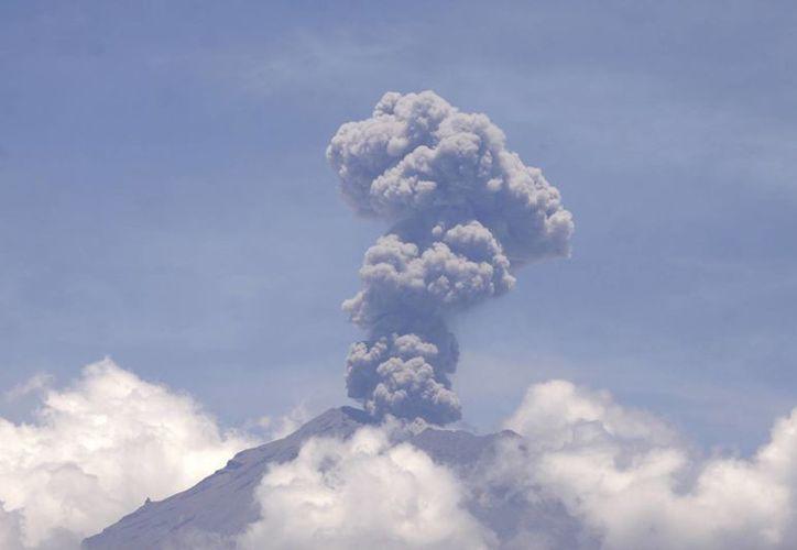El volcán Popocatépetl registró una explosión a las 02:28 horas de este domingo, por lo que las autoridades recomiendan mantenerse alejado del coloso natural. (Archivo Notimex)