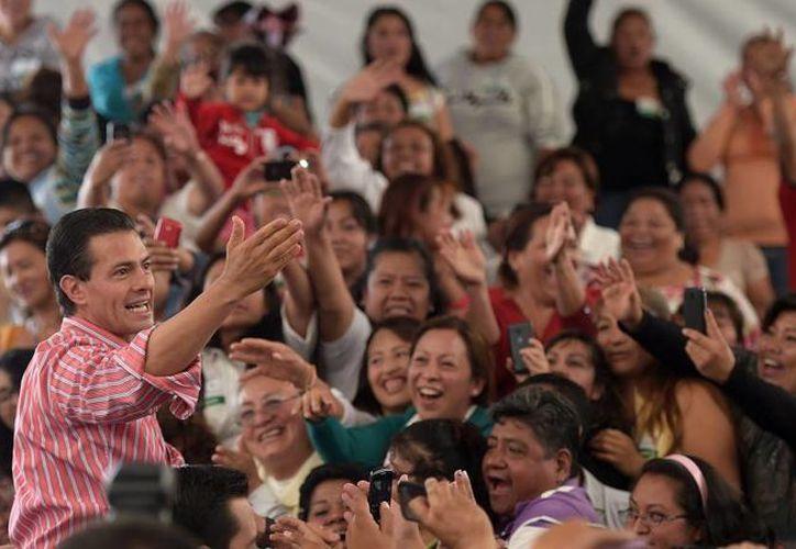 Durante la presentación del programa Prospera, el presidente Enrique Peña dijo que los beneficiarios tendrán acceso a 15 programas productivos. (presidencia.gob.mx)