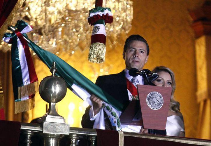 Peña Nieto encabezó su tercer Grito de Independencia. (Notimex)