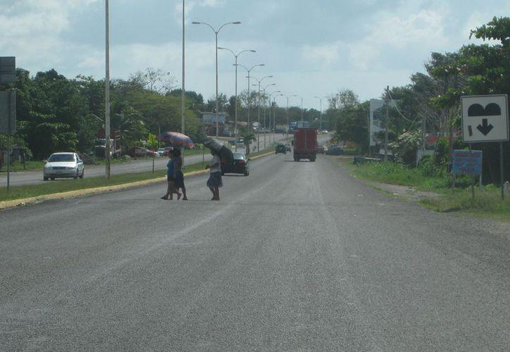 Como el tramo le pertenece a la Federación, les es imposible a las autoridades municipales concretar el proyecto. (Javier Ortiz/SIPSE)