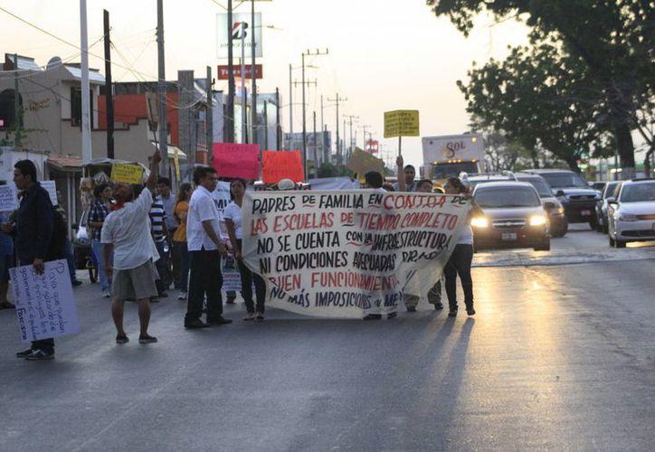 Docentes rechazan hacer manifestaciones o marchas. (Archivo/SIPSE)