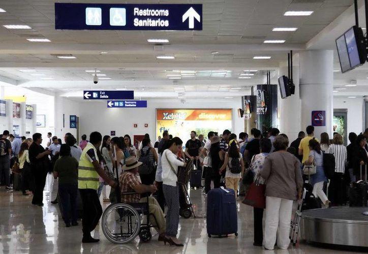 El Aeropuerto Internacional de Cancún registró un incremento del 13.8%. (Redacción/SIPSE)